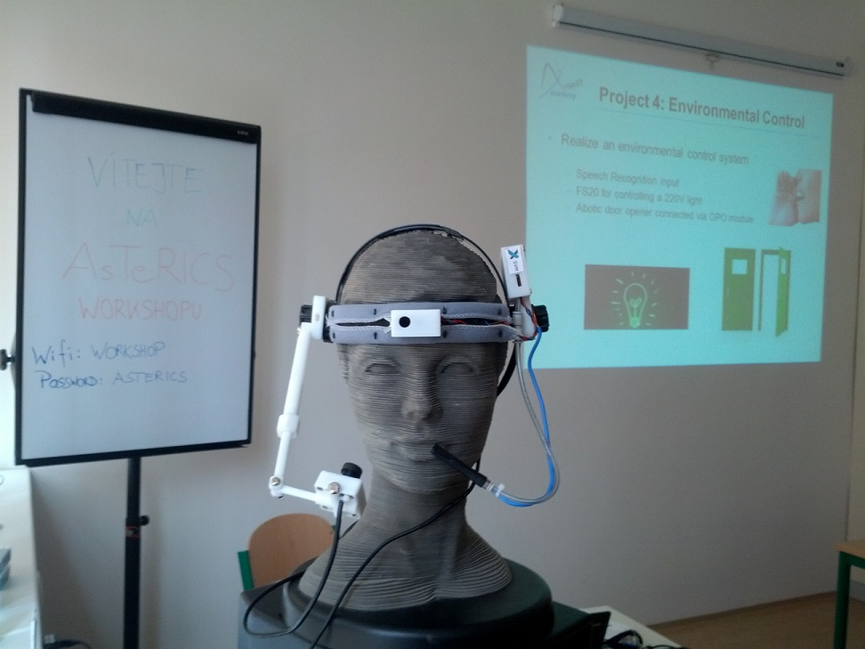 Eyetracker at AsTeRICS Academy workshop in Prague