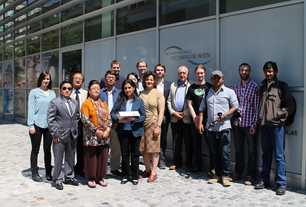 International Delegation from Nepal and Bhutan visited the AsTeRICS Academy Team at the UAS Technikum Wien